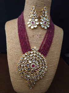 Big Round Pendant Necklace - Ishhaara