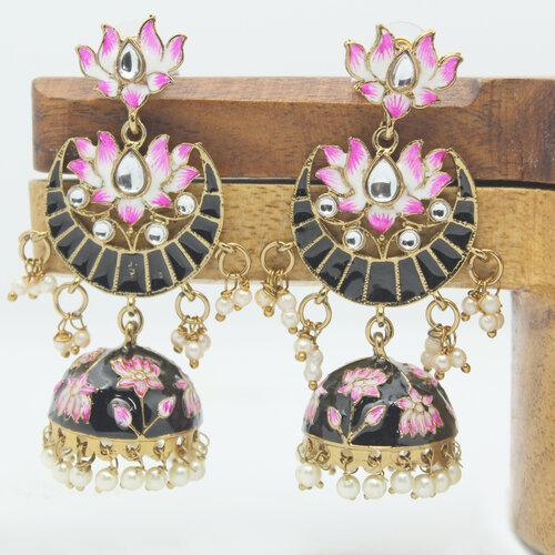 Hand Painted Chand Jumki