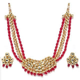 Center Kundan Red Beads Necklace