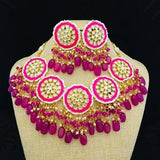 Chakra Meena Necklace Set