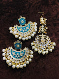 Chakra stud Chand Earring And Teeka - Ishhaara