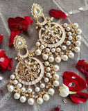 Chandbali with pearl drops - Ishhaara