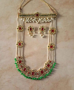 Choker and Long Necklace - Ishhaara