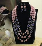 Colored Beads Layered Neckkace