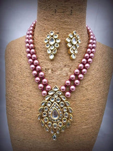 Dark Pink Pearl Necklace