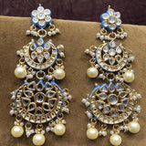 Double Chandbali Earrings - Ishhaara