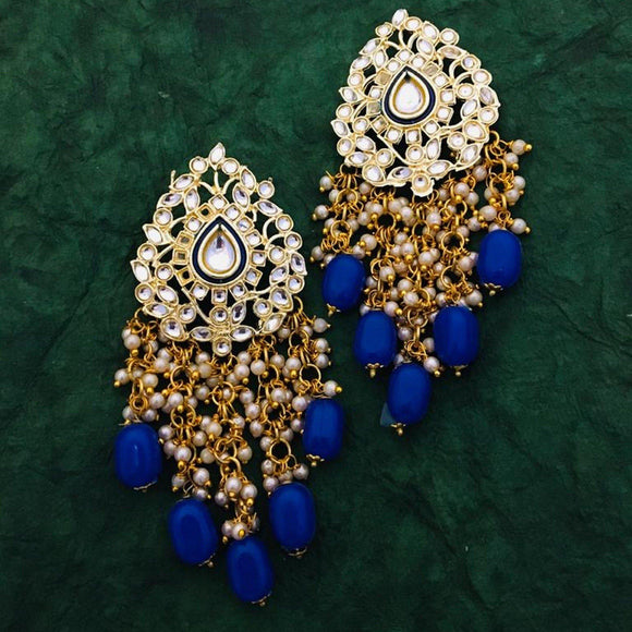 Drop Intricate Design Meena Earring