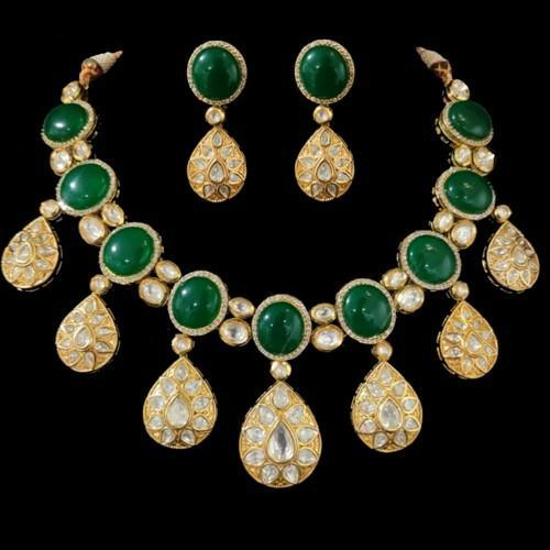 Drop Studded Kundan Ad Set