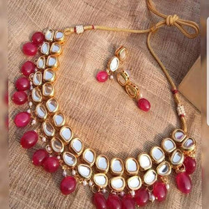 Dual kundan Ruby Necklace