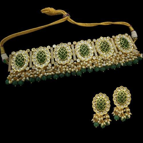 Emerald Jadau Necklace Set