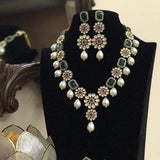 Flower Motif Long Necklace - Ishhaara