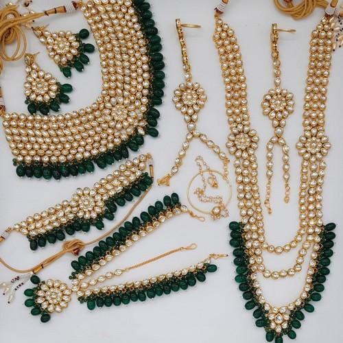 Full Bridal Green Necklace Set