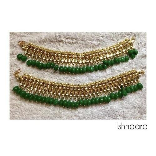 Green Kundan Payal - Ishhaara