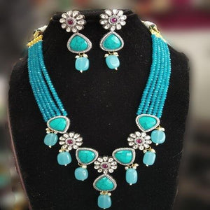 Half Onex Half Flower Necklace - Ishhaara