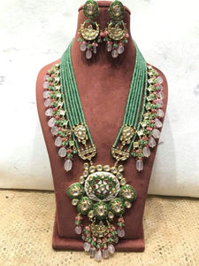 Handpainted Kundan Pendant Necklace