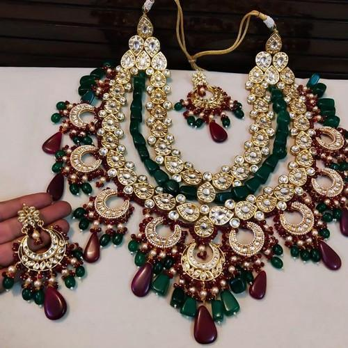 Huge Ruby Emerald Necklace