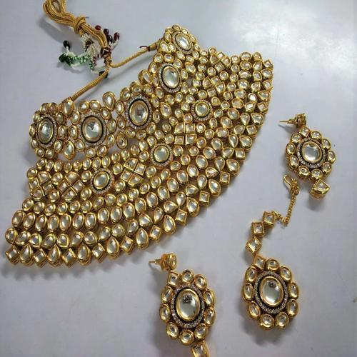 Intricate AD Kundan Bridal Set with Meena - Ishhaara