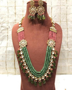 Intricate Flora Long Necklace Set