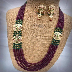 Jadau Side Patch Necklace - Ishhaara