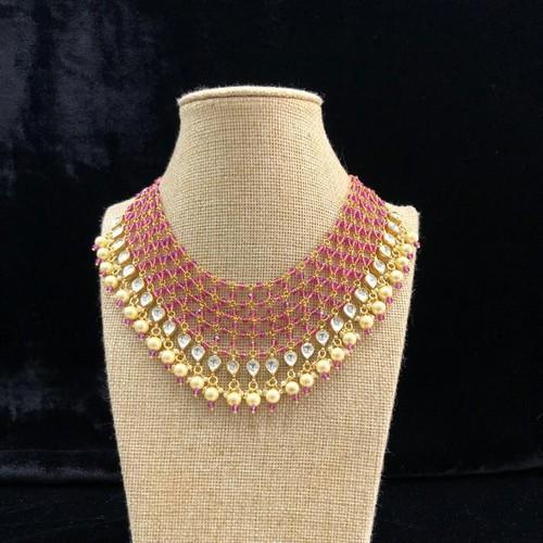 Jadtar Patchi Drop Necklace