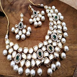 Kundan AD Green Necklace