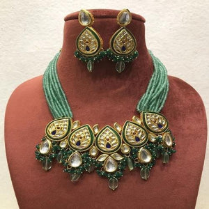 Kundan Drop Centre Patch Necklace