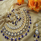 Kundan Meenakari Big Necklace - Ishhaara