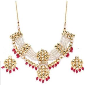 Kundan Moti Patch Necklace