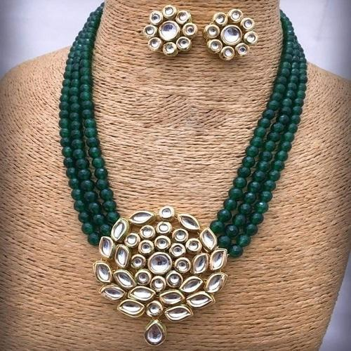 Kundan Round Pendant Necklace