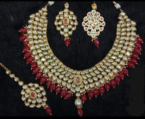 Kundan Ruby Necklace - Ishhaara