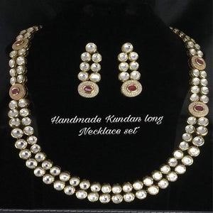 Kundan Side Round AD 2 Layered Necklace