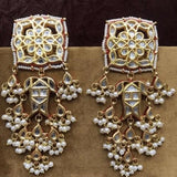 Kundan Square Stud Earrings - Ishhaara