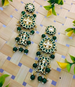 Layered Round Kundan Earring