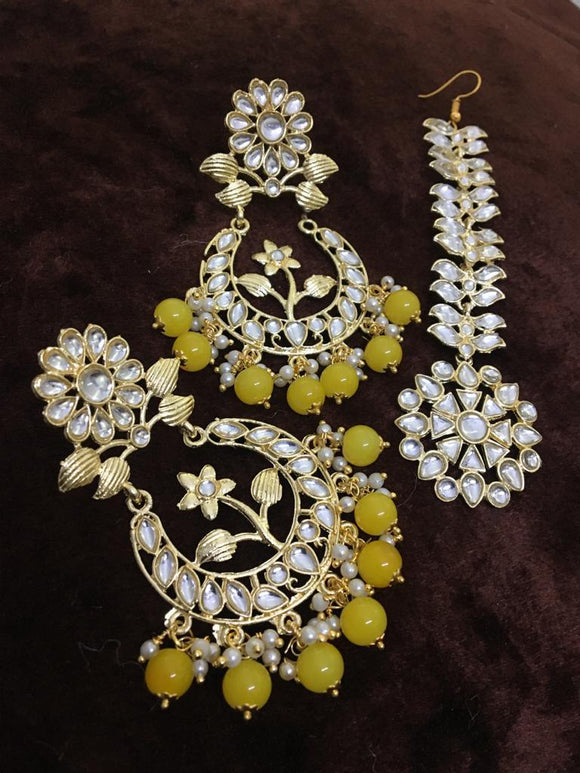 Flower Chandbali Earring And Teeka - Ishhaara
