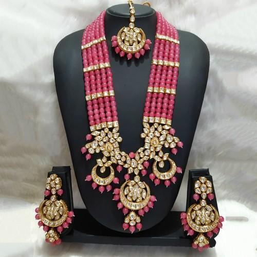 Long 3 Chandbali Rani Haar Necklace Set