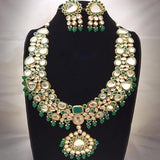Long Kundan Necklace with Pendant
