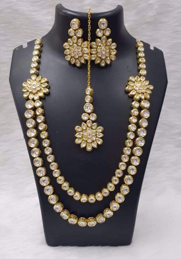 Long Kundan layered Set - Ishhaara