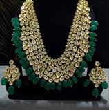 Long Multi Layered Abstract Kundan Necklace
