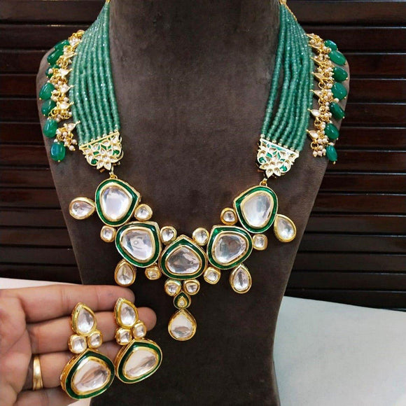 Meena Kundan Long Side Hanging Set