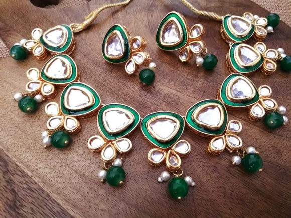 Meena Kundan Necklace - Ishhaara