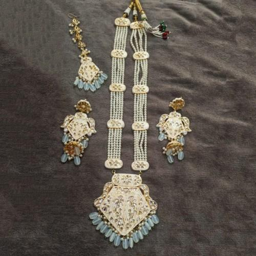 Meena Moti Haar Necklace Set