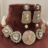 Meena Painted Patchi Choker Set