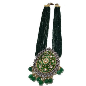 Meena Pendant AD Setting Necklace