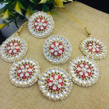 Meena Round Flower Painted Set