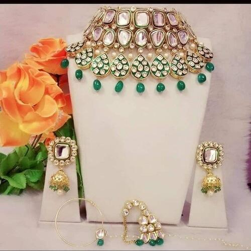 Meena Tear Drop Bridal Necklace - Ishhaara