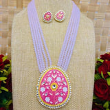 Meenakari Pendant Necklace Set