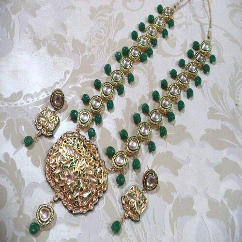 Meenakari Rectangular Pendant Necklace - Ishhaara