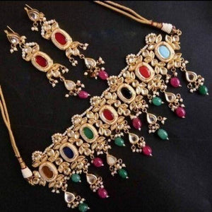 Mina Kundan Colorful Necklace