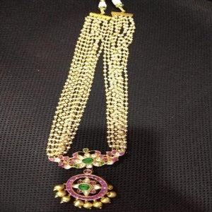 Moti Patchi Kundan Necklace - Ishhaara