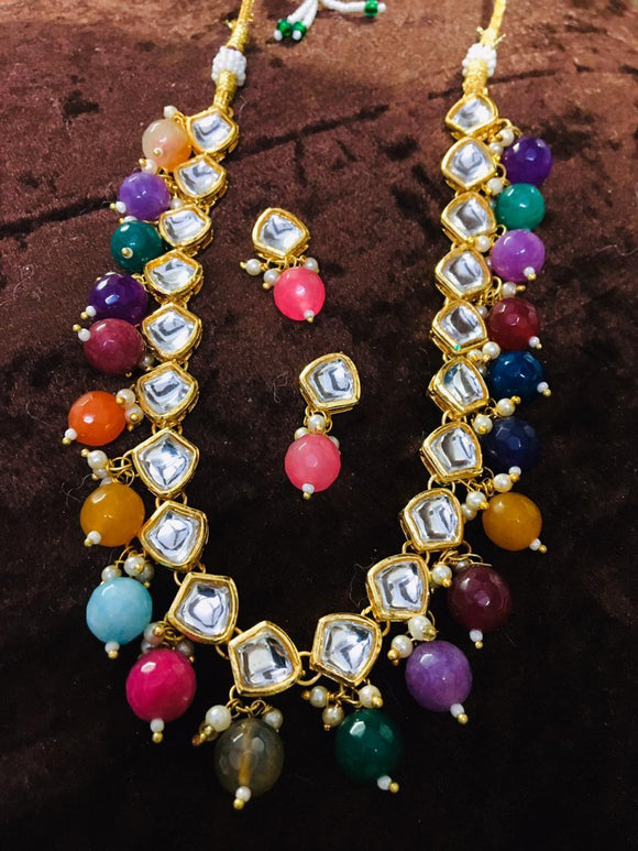 Multi Color Kundan Necklace 1 - Ishhaara